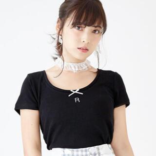 夢展望 - 夢展望 Tシャツ ブラック ルームウェア イニシャル R