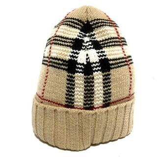 バーバリー(BURBERRY)のバーバリーゴルフ ニット帽 チェック柄(ニット帽/ビーニー)