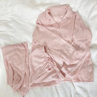 GU - gu パジャマ サテン ピンク サーモン