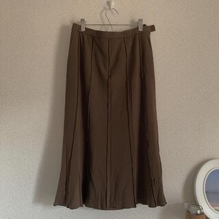サンタモニカ(Santa Monica)のヴィンテージ スカート 古着 ブラウン(ひざ丈スカート)