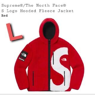 シュプリーム(Supreme)のSupreme/TNF S Logo Hooded Fleece Jacket赤(ブルゾン)