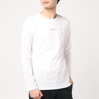 アニエスベー(agnes b.)のagnes b.HOMMEアニエスベーオム新品ちびロゴ長袖Tシャツ☆ホワイト☆3(Tシャツ/カットソー(七分/長袖))