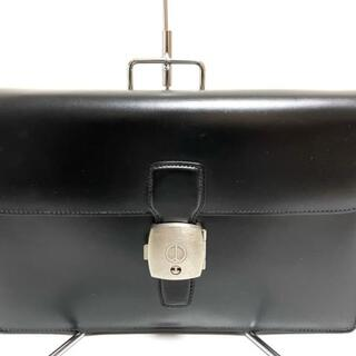ダンヒル(Dunhill)のダンヒル セカンドバッグ 黒 レザー(セカンドバッグ/クラッチバッグ)