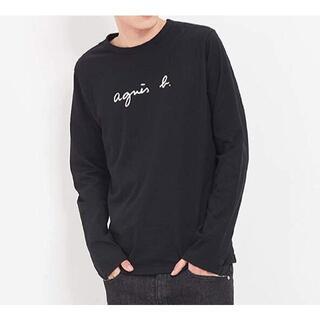 アニエスベー(agnes b.)のagnes b.アニエスベーオム新品ロゴ長袖Tシャツ☆ブラック☆2☆メンズ(Tシャツ/カットソー(七分/長袖))