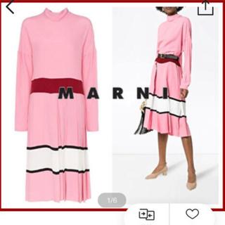 マルニ(Marni)の新品未使用   MARNI☆Neck Tie Pleated Dress(ロングワンピース/マキシワンピース)