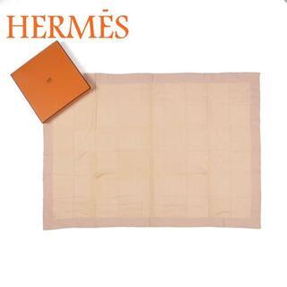 エルメス(Hermes)のエルメス 未使用 100×72cm ベビーライン ウール ブランケット 膝掛け(タオル/バス用品)