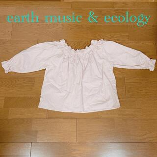 アースミュージックアンドエコロジー(earth music & ecology)のearth music & ecology ブラウス ベビーピンク(シャツ/ブラウス(長袖/七分))