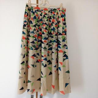 ミナペルホネン(mina perhonen)のミナ ふんわりフレアスカート(ひざ丈スカート)