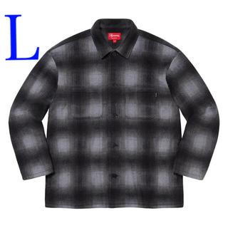 Supreme - Supreme Shadow Plaid Fleece Shirt Lサイズ