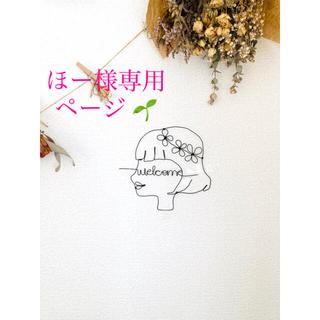 ワイヤークラフト【花冠の女の子 横顔 welcome 】【植物3点】(その他)