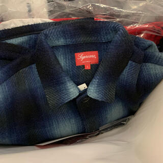 Supreme - Supreme Shadow Plaid Fleece Shirt L