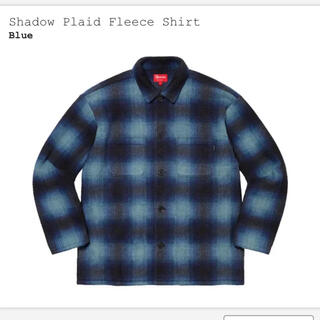 Supreme - L supreme Shadow Plaid Fleece Shirt Blue