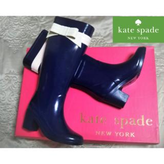 ケイトスペードニューヨーク(kate spade new york)の【新品・未使用】ケイトスペードニューヨーク レインブーツ 35(レインブーツ/長靴)