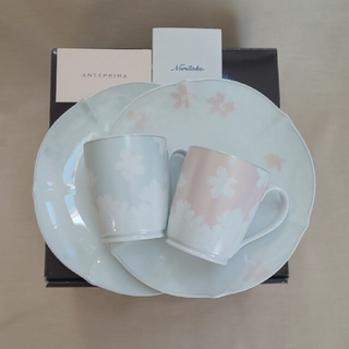 ノリタケ(Noritake)の新品未使用 ノリタケ アンテプリマ  マグカップ 皿 ペア モーニングセット(食器)