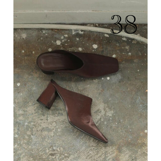 TODAYFUL - TODAYFUL (トゥデイフル) Square Satin Shoes 38