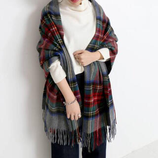 IENA SLOBE - SLOBE IENA TWEED MILL STOLE タータンチェックマフラー