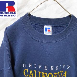 Champion - ラッセル USA製 スウェット トレーナー ネイビー 美品 刺繍