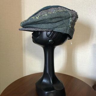 アールニューボールド(R.NEWBOLD)の新品【R.NEWBOLD】アールニューボールド ハンチング 帽子 ブラック系(ハンチング/ベレー帽)