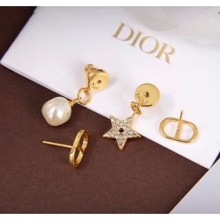 Dior - Dior ピアス ゴールド×パールandダイヤモンド星