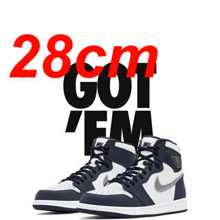 NIKE - 28cm nike air jordan1 midnight navy