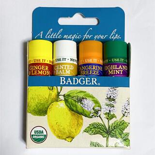 Badger - バジャー【Badger】リップクリーム 4本セット オーガニック
