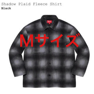 supreme shadow plaid fleece shirt 新品 M