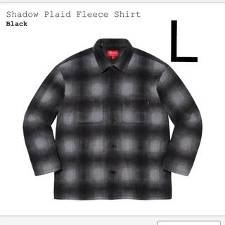 supreme shadow plaid fleece shirt  Black