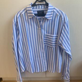 アバクロンビーアンドフィッチ(Abercrombie&Fitch)のアバクロ ストライプシャツ(シャツ/ブラウス(長袖/七分))