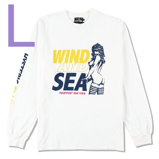 HYSTERIC GLAMOUR - HYSTERIC WIND AND SEA SEA+HYS 2 Tシャツ 白