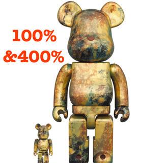 メディコムトイ(MEDICOM TOY)のBE@RBRICK PUSHEAD #5 GOLD 100% & 400%(その他)