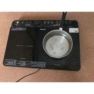 アイリスオーヤマ(アイリスオーヤマ)のIHコンロ アイリスオーヤマ 2口  スタンド 付き 2018年(調理道具/製菓道具)