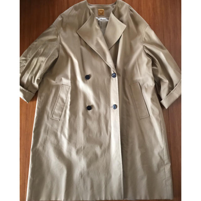 DEUXIEME CLASSE(ドゥーズィエムクラス)のDeuxieme Classeギャバノーカラーコート レディースのジャケット/アウター(トレンチコート)の商品写真
