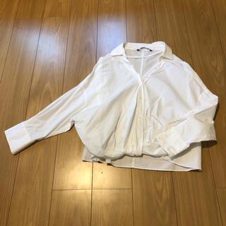 ZARA - 【値下げ中‼️】ZARA 腰くくり ドルマンシャツ