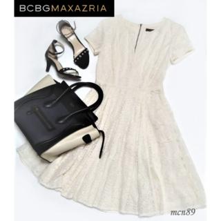BCBGMAXAZRIA - 【新品・未使用】BCBGMAXAZRIA パッチワークレースシャツドレス 0