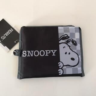 SNOOPY - 新品*スヌーピー エコバッグ(ブラック)