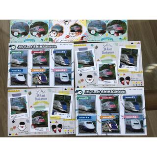 ショウガクカン(小学館)の非売品 新幹線 シール ハガキセット(使用済み切手/官製はがき)