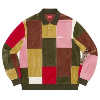Supreme - supreme patchwork velour shirt Mサイズ
