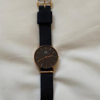 ダニエルウェリントン(Daniel Wellington)のDaniel Wellington 時計 【黒】 美品状態良好(腕時計(アナログ))