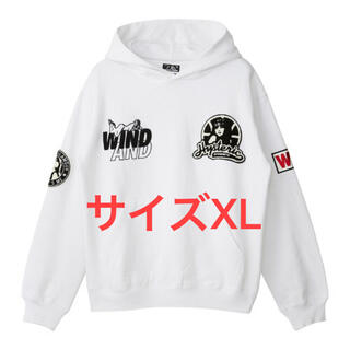 HYSTERIC GLAMOUR - wind and sea × ヒステリックグラマー:Hoodie フーディー 白