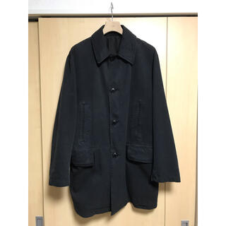コモリ(COMOLI)のCOMOLI コットンギャバ ウォッシュドコート BLACK サイズ2(ステンカラーコート)
