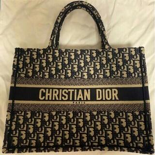 Dior - 【新品同様】ディオールブックトート ネイビー トートバッグ