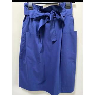 マリメッコ(marimekko)のマリメッコ 無地 シンプル リボン付きスカート marimekko(ひざ丈スカート)