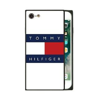トミーヒルフィガー(TOMMY HILFIGER)のトミーヒルフィガー ガラスケース iPhoneケース r3ch6u(iPhoneケース)