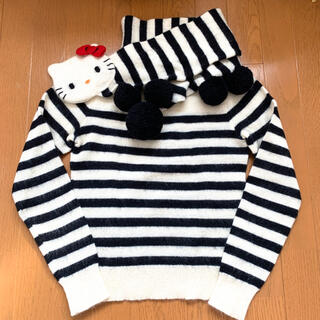 ジェーンマープル(JaneMarple)のJaneMarple ハローキティコラボ セーター マフラー付き 日本製(ニット/セーター)