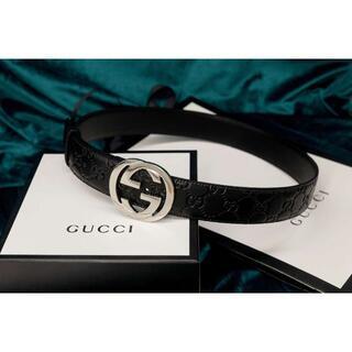 Gucci -  グッチ 大人気 ダブルGバックル レザー ベルト 3.5 cm幅