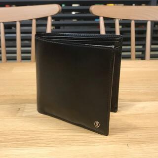 カルティエ(Cartier)の美品 カルティエ パシャ 折り畳み 財布 コンパクト ブラック 黒 メンズ(折り財布)