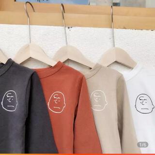 PEANUTS - スヌーピー チャーリーブラウン シャツ 120サイズ ベージュ ユニセックス