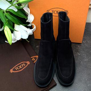 トッズ(TOD'S)のトッズの上質でとてもお洒落なスエードハーフブーツ(ブーツ)
