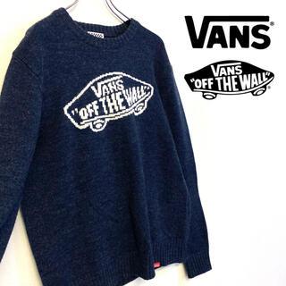ヴァンズ(VANS)の美品 VANS ニット ロゴ セーター フリーサイズ M相当(ニット/セーター)