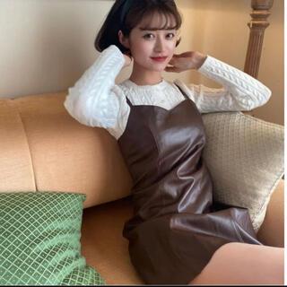 〔即発送〕Bibiy  fake leather camisole OP ♡